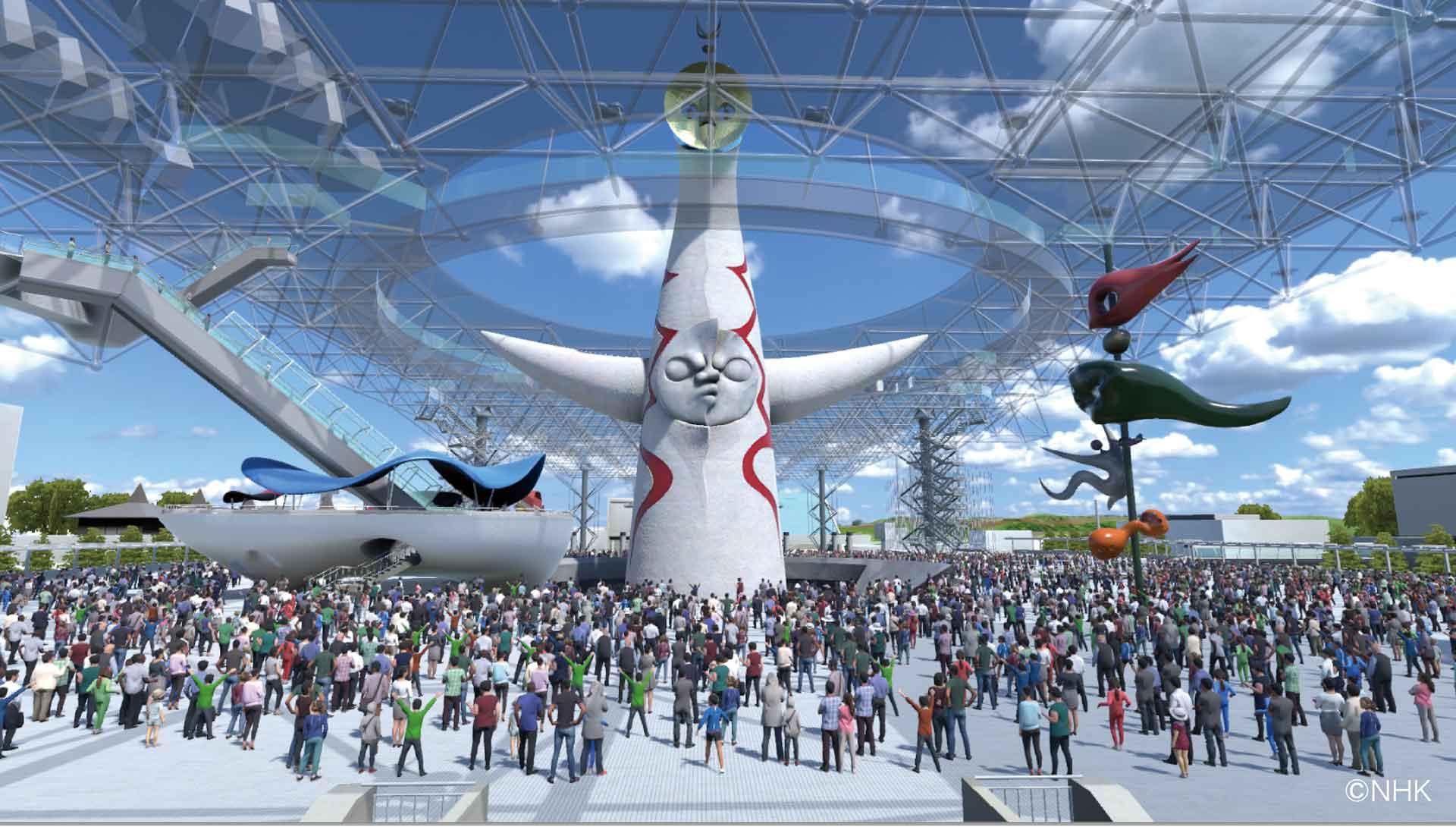 NHK BSプレミアム「スーパープレミアム 完全中継 復活太陽の塔」