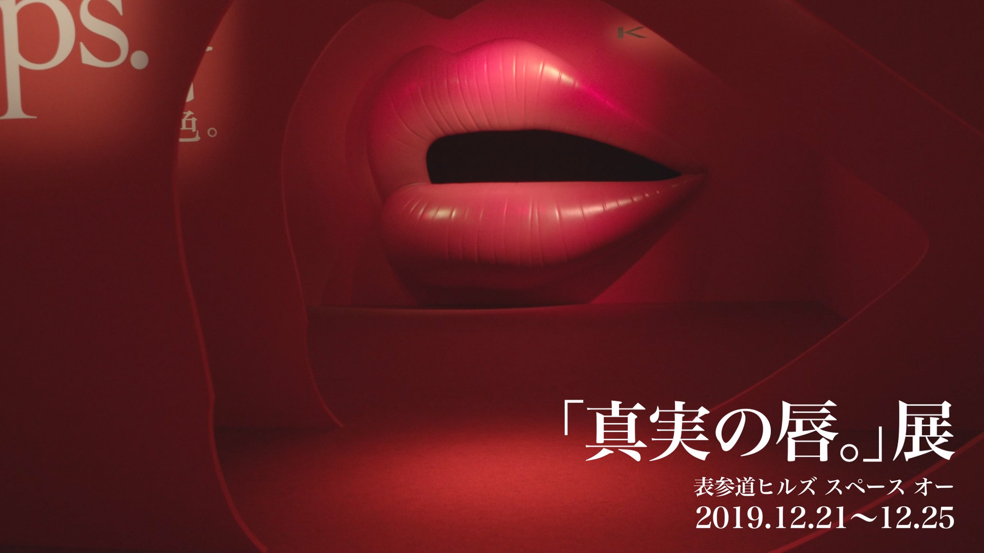 カネボウ化粧品 KATE「真実の唇。」展