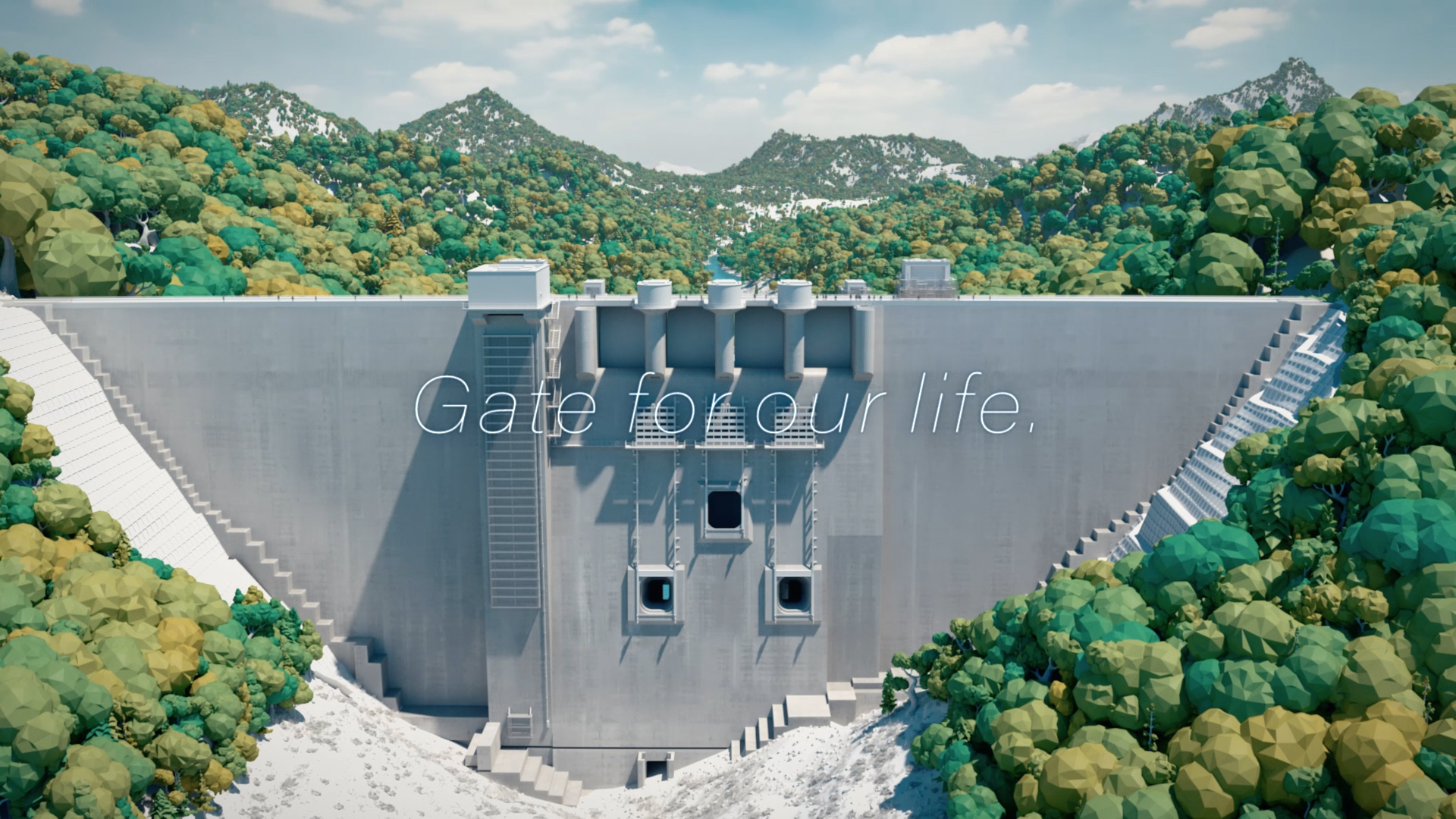 IHI 八ッ場ダム完成記念 放流ゲート動画「Gate for our life」